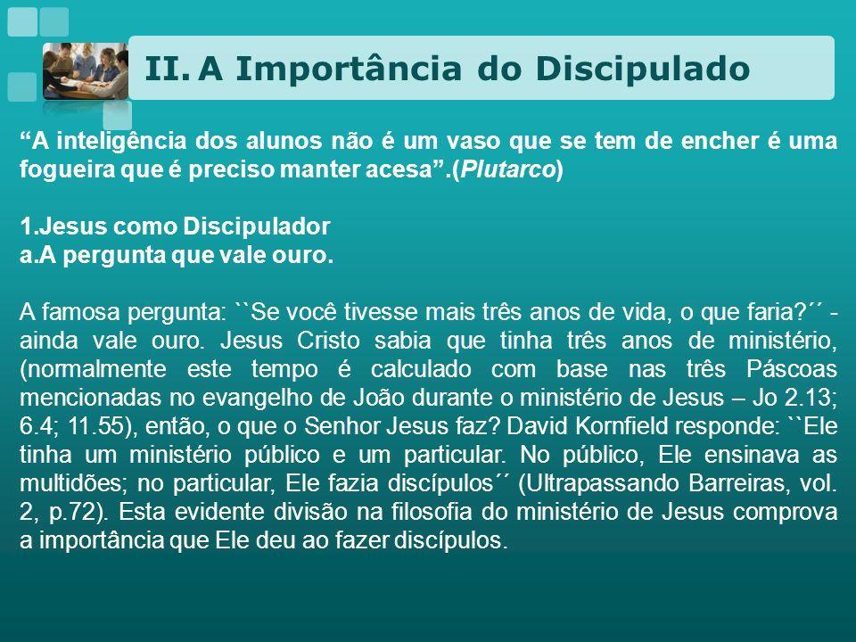 A Importância do Discipulado