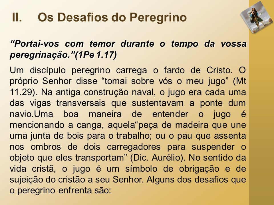Os Desafios do Peregrino
