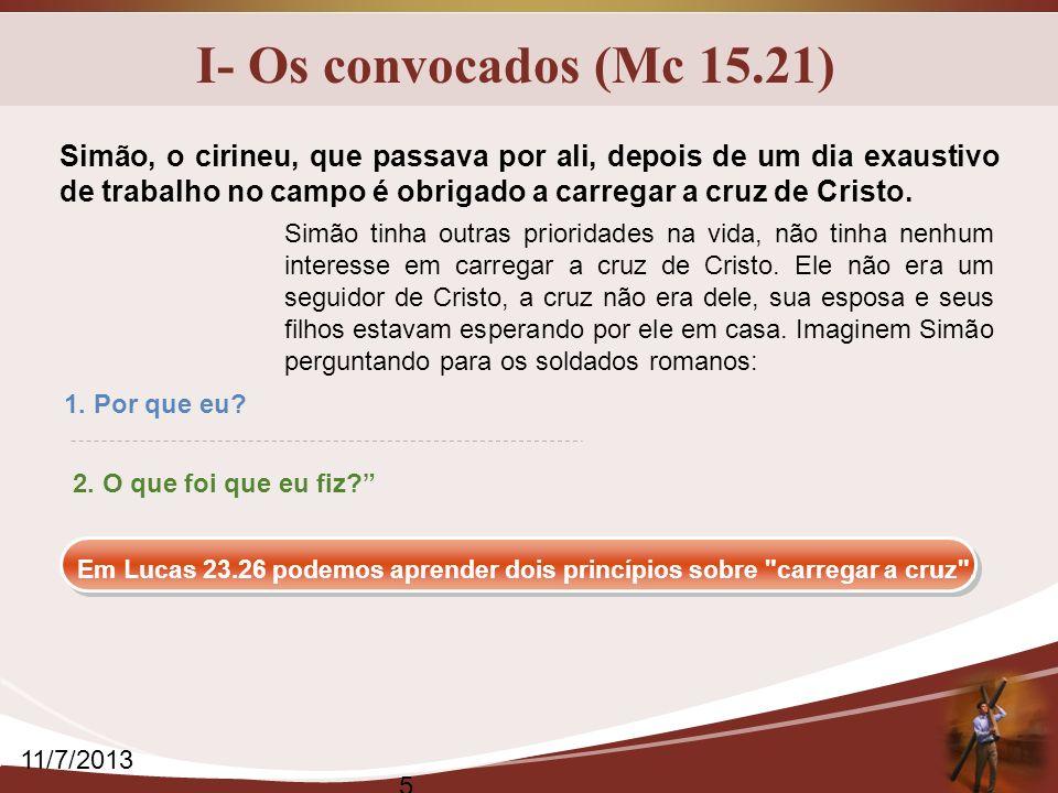 I- Os convocados (Mc 15.21)