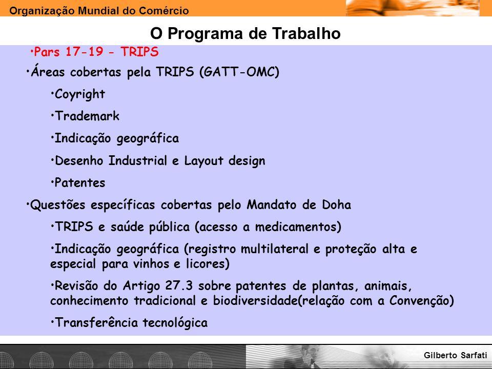 O Programa de Trabalho Pars 17-19 - TRIPS