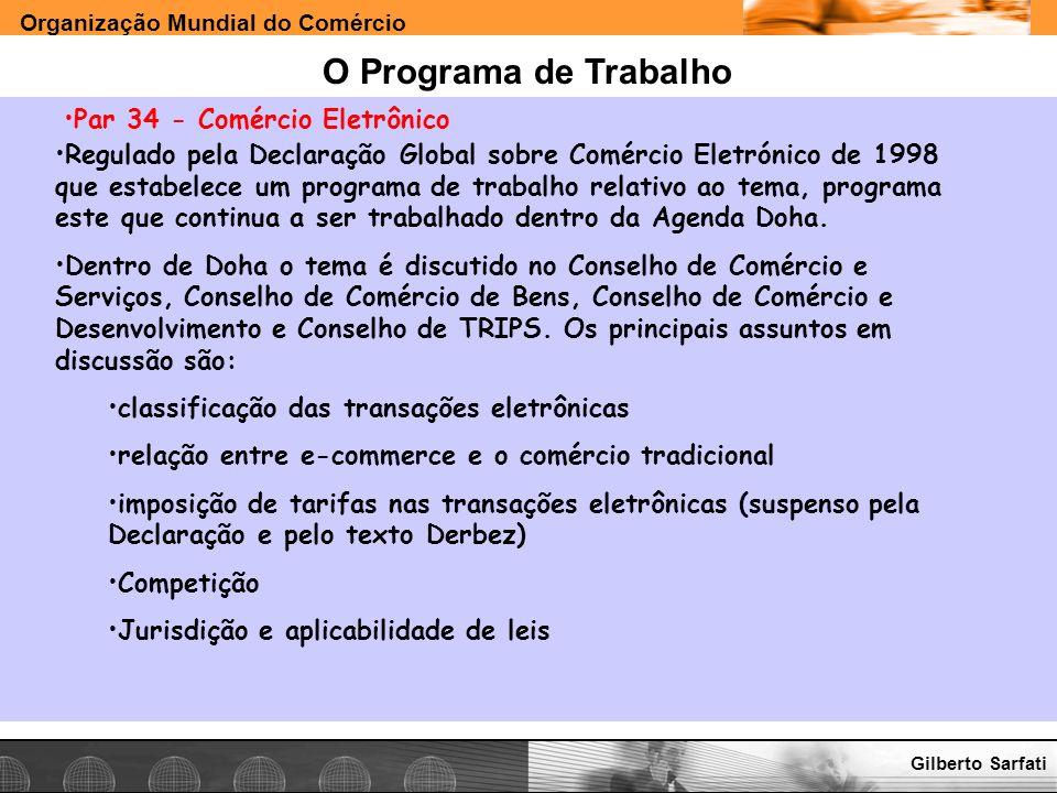 O Programa de Trabalho Par 34 - Comércio Eletrônico