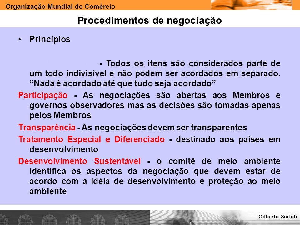 Procedimentos de negociação