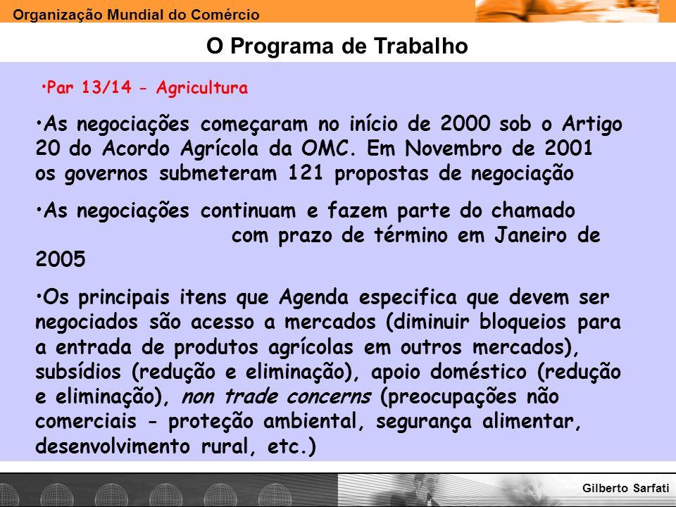 O Programa de Trabalho Par 13/14 - Agricultura.