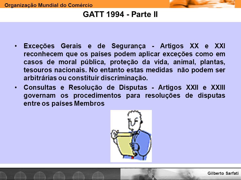 GATT 1994 - Parte II