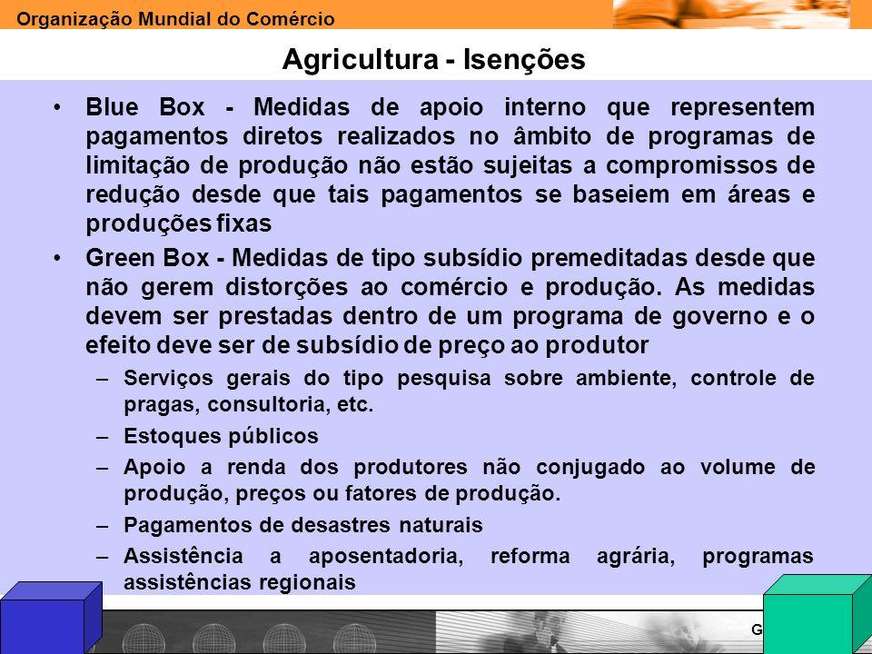 Agricultura - Isenções