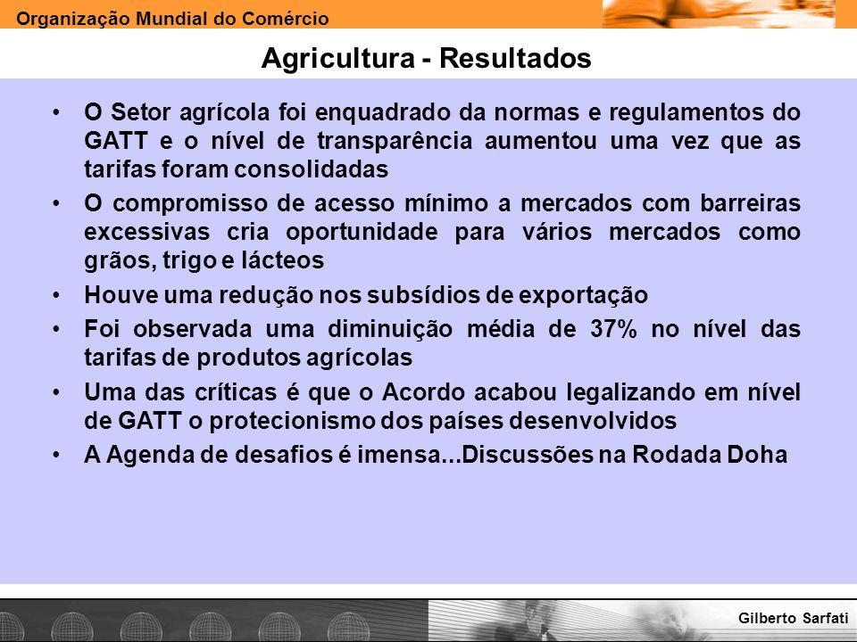 Agricultura - Resultados