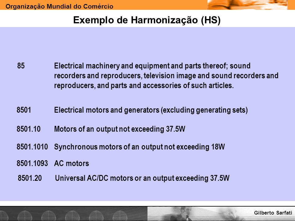 Exemplo de Harmonização (HS)