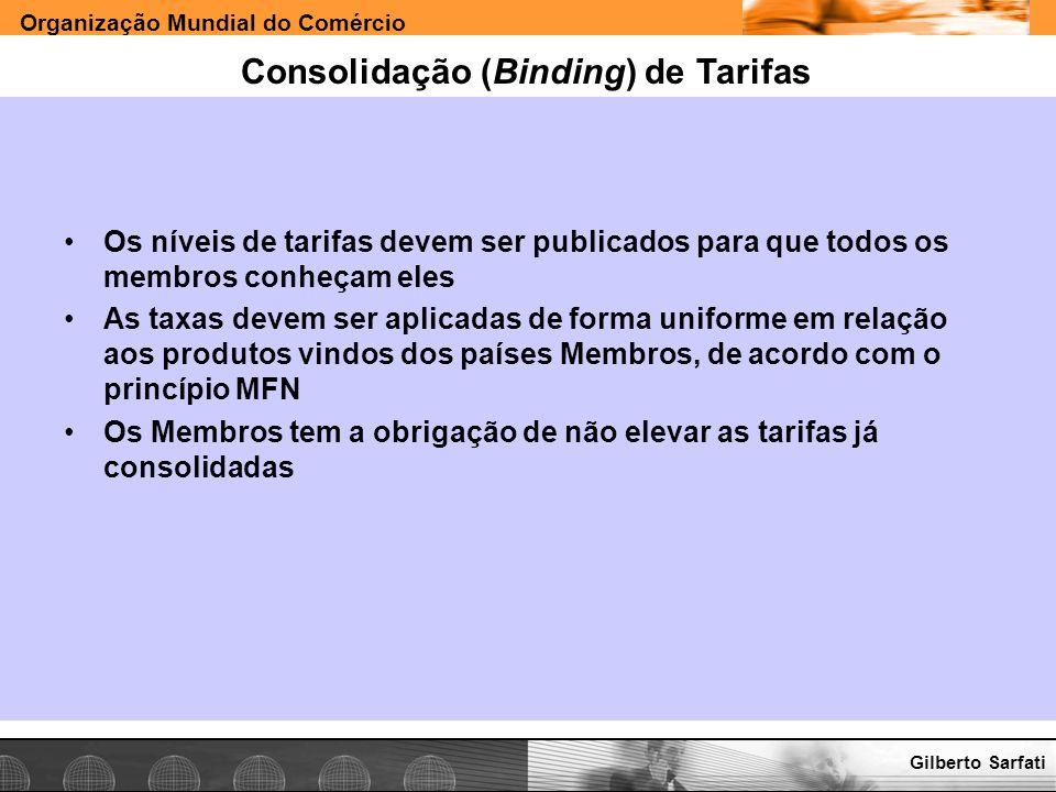 Consolidação (Binding) de Tarifas