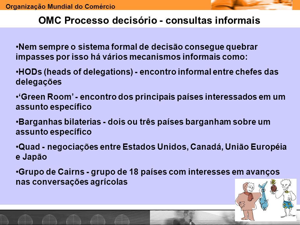 OMC Processo decisório - consultas informais