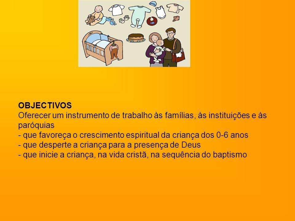 OBJECTIVOS Oferecer um instrumento de trabalho às famílias, às instituições e às paróquias.