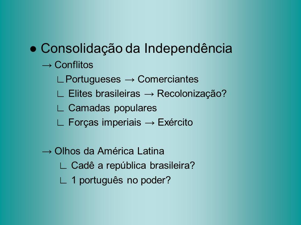 ● Consolidação da Independência