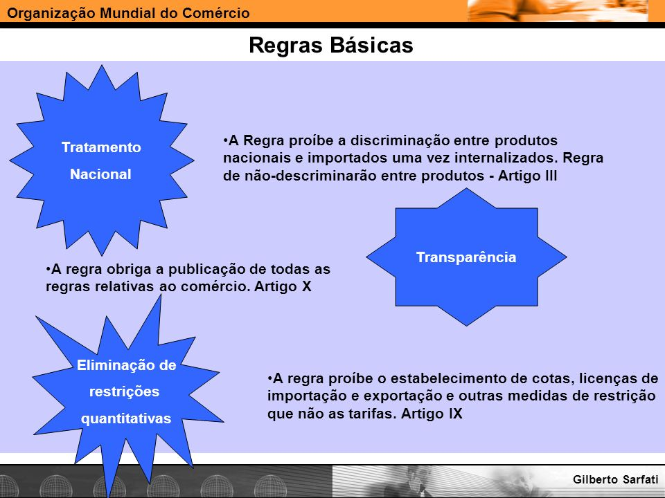 Regras Básicas Tratamento Nacional