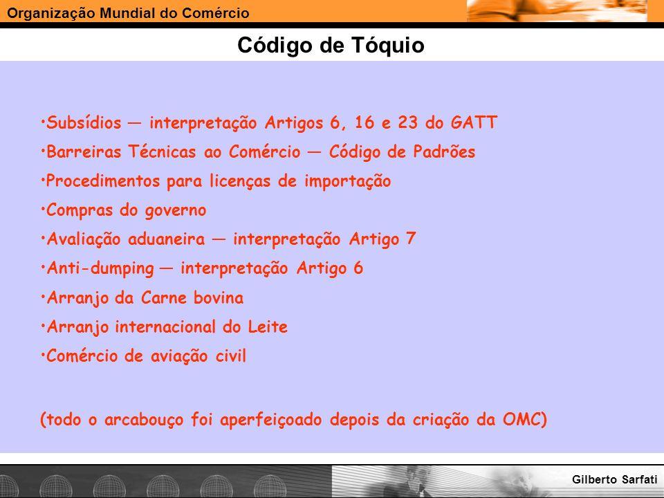 Código de Tóquio Subsídios — interpretação Artigos 6, 16 e 23 do GATT