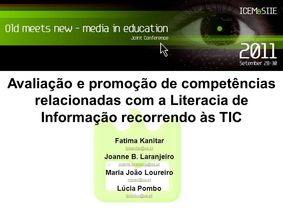 Avaliação e promoção de competências relacionadas com a Literacia de Informação recorrendo às TIC