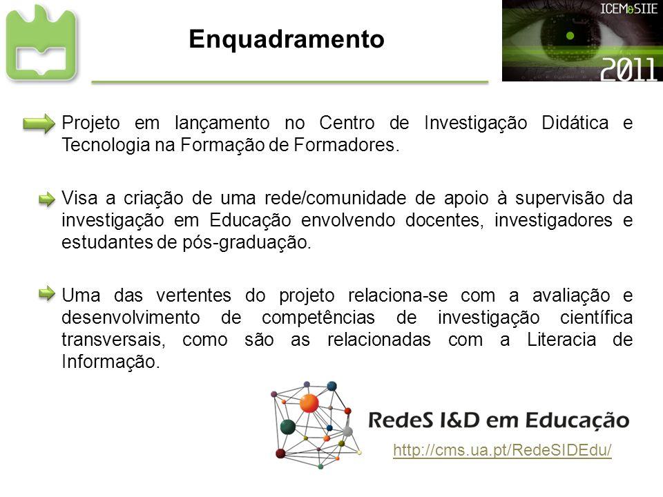Enquadramento Projeto em lançamento no Centro de Investigação Didática e Tecnologia na Formação de Formadores.