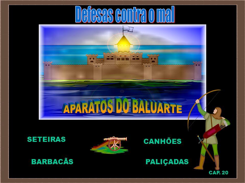 Defesas contra o mal APARATOS DO BALUARTE SETEIRAS CANHÕES BARBACÃS