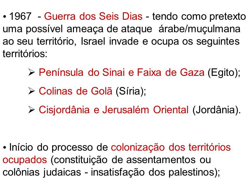  Península do Sinai e Faixa de Gaza (Egito);