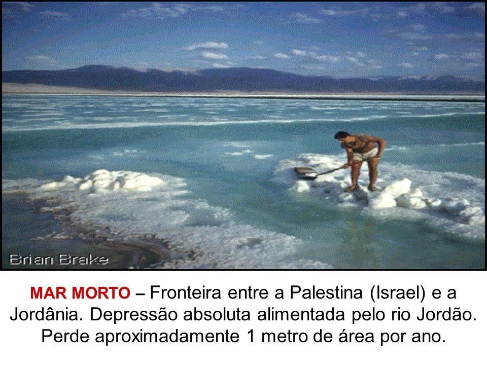 MAR MORTO – Fronteira entre a Palestina (Israel) e a Jordânia