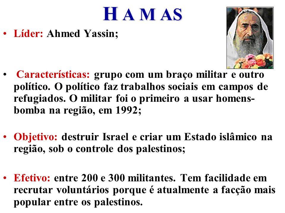 H A M AS Líder: Ahmed Yassin;
