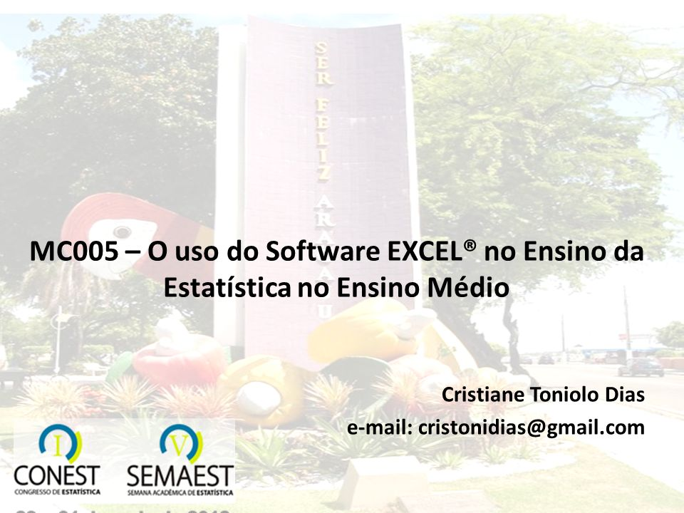 Cristiane Toniolo Dias e-mail: cristonidias@gmail.com