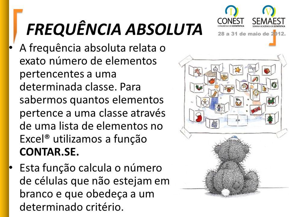 FREQUÊNCIA ABSOLUTA