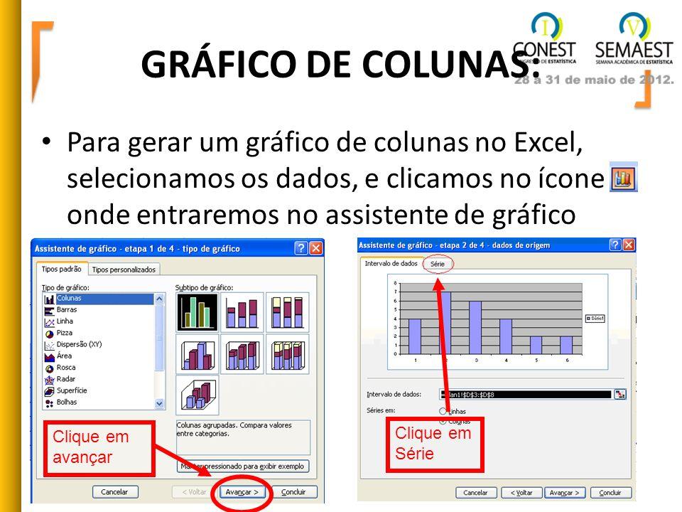 GRÁFICO DE COLUNAS: