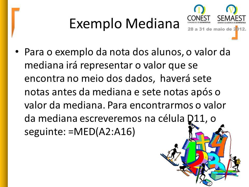 Exemplo Mediana