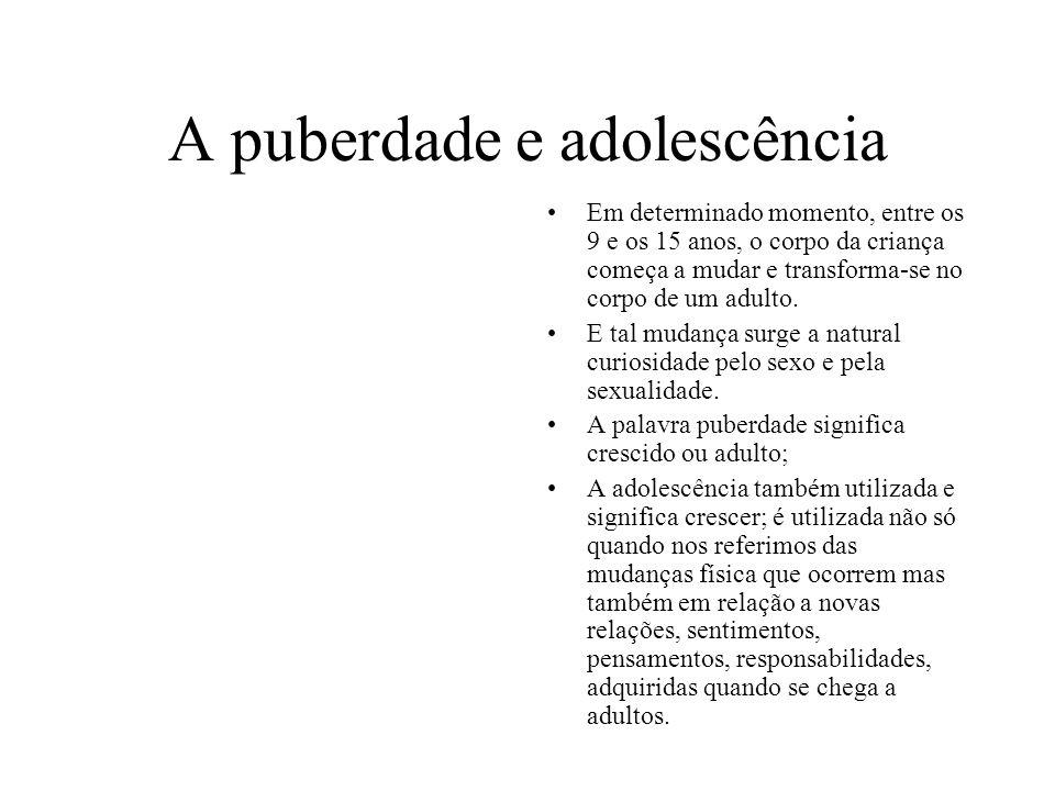 A puberdade e adolescência