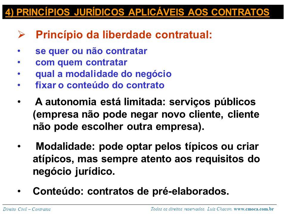Princípio da liberdade contratual: