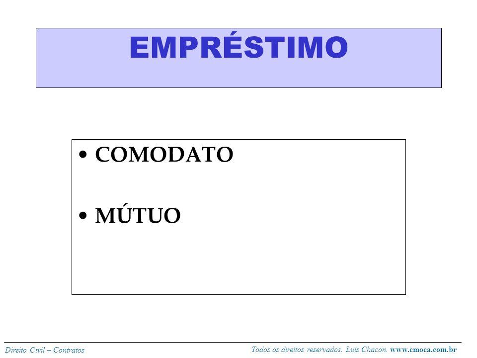 EMPRÉSTIMO COMODATO MÚTUO