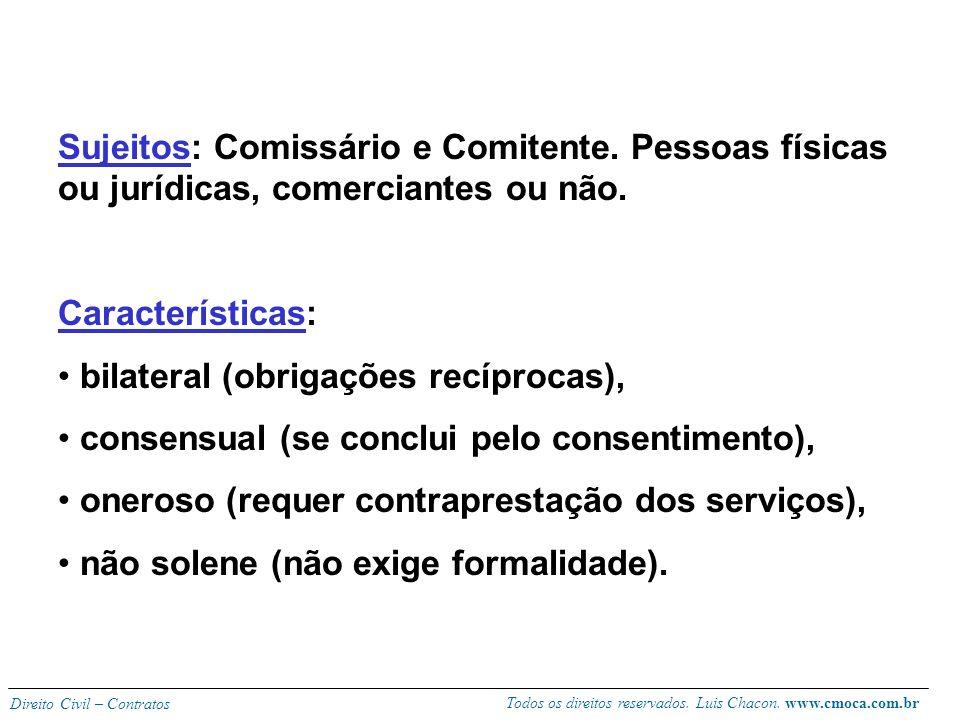Sujeitos: Comissário e Comitente