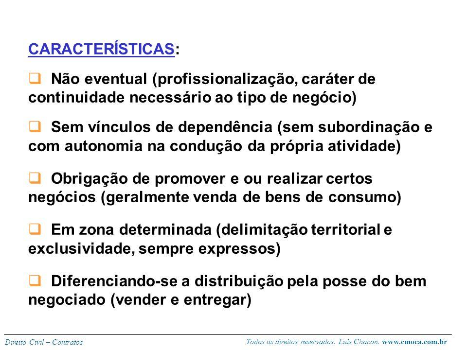 CARACTERÍSTICAS: Não eventual (profissionalização, caráter de continuidade necessário ao tipo de negócio)