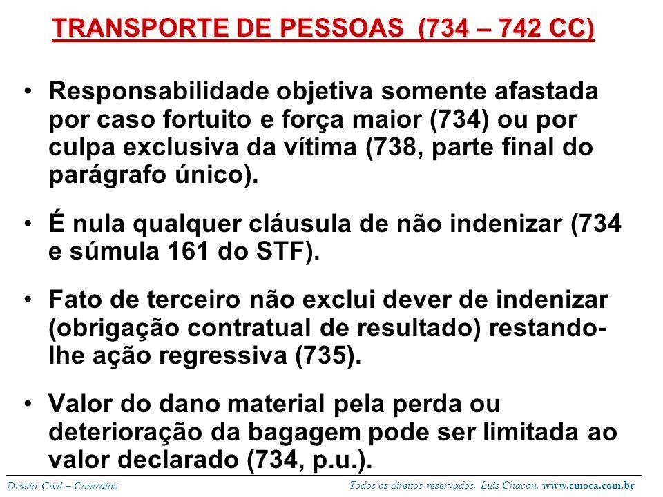 TRANSPORTE DE PESSOAS (734 – 742 CC)