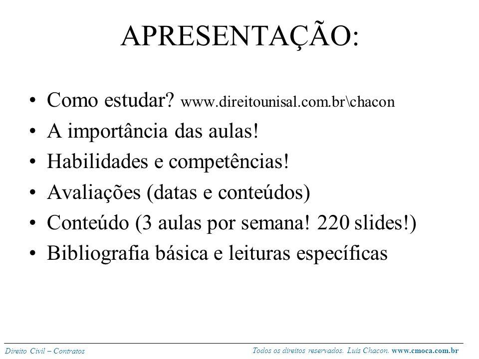 APRESENTAÇÃO: Como estudar www.direitounisal.com.br\chacon