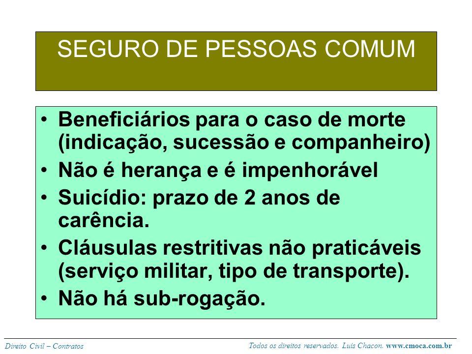 SEGURO DE PESSOAS COMUM