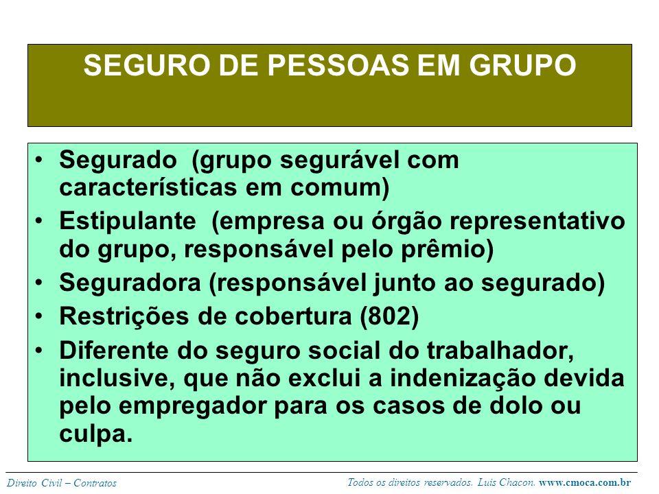 SEGURO DE PESSOAS EM GRUPO