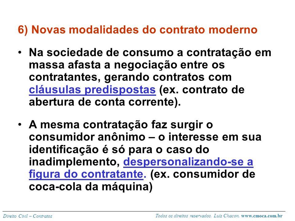 6) Novas modalidades do contrato moderno