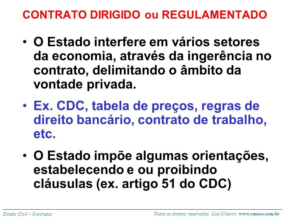 CONTRATO DIRIGIDO ou REGULAMENTADO