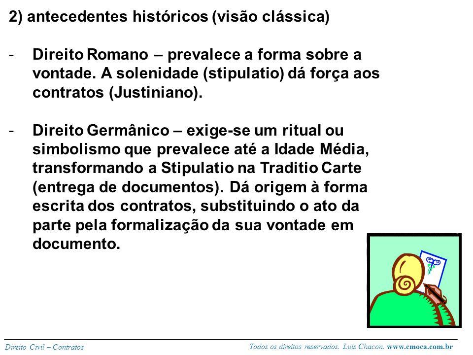 2) antecedentes históricos (visão clássica)