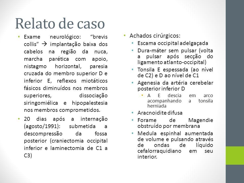 Relato de caso Achados cirúrgicos:
