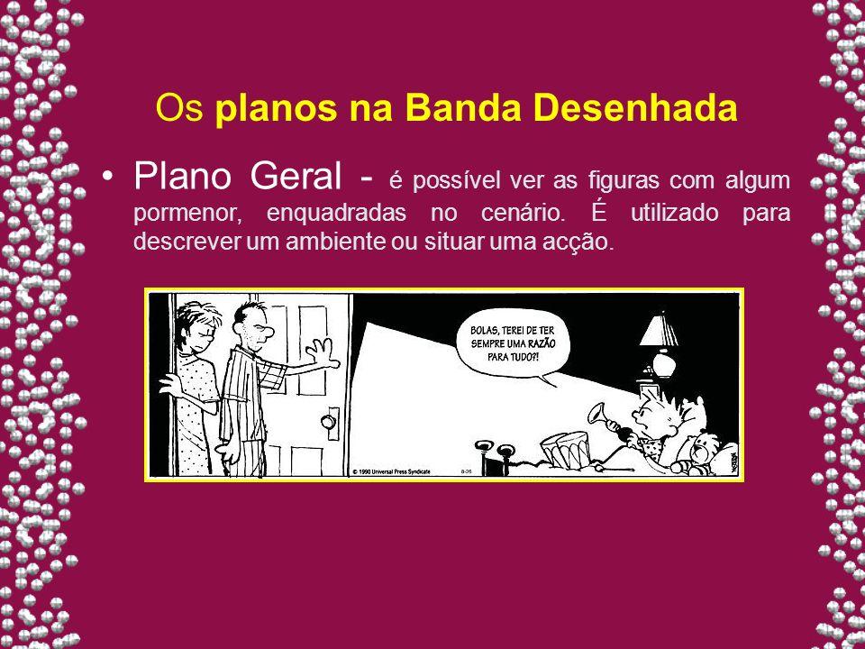 Os planos na Banda Desenhada