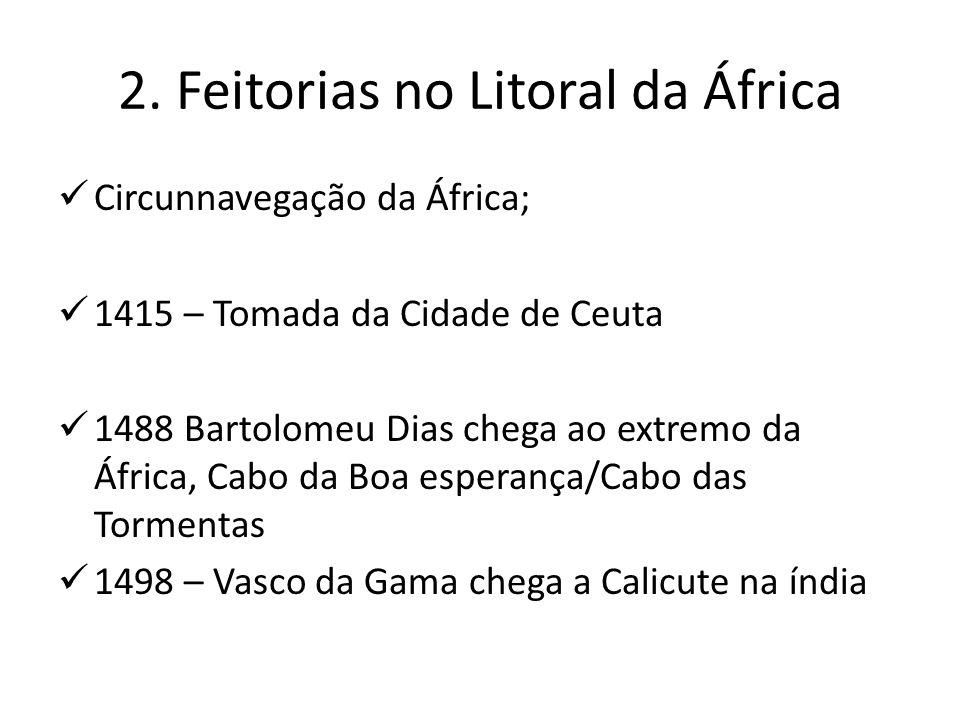 2. Feitorias no Litoral da África