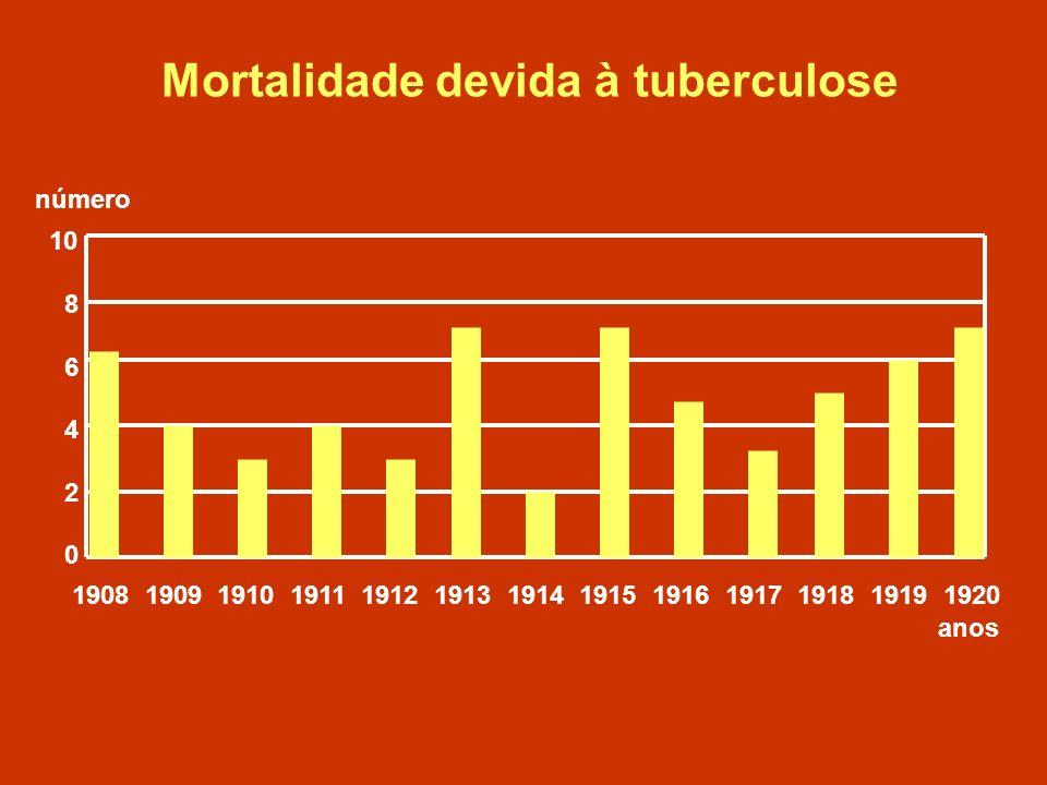 Mortalidade devida à tuberculose