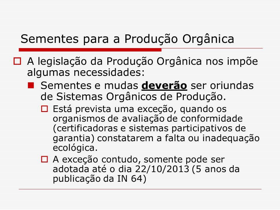 Sementes para a Produção Orgânica