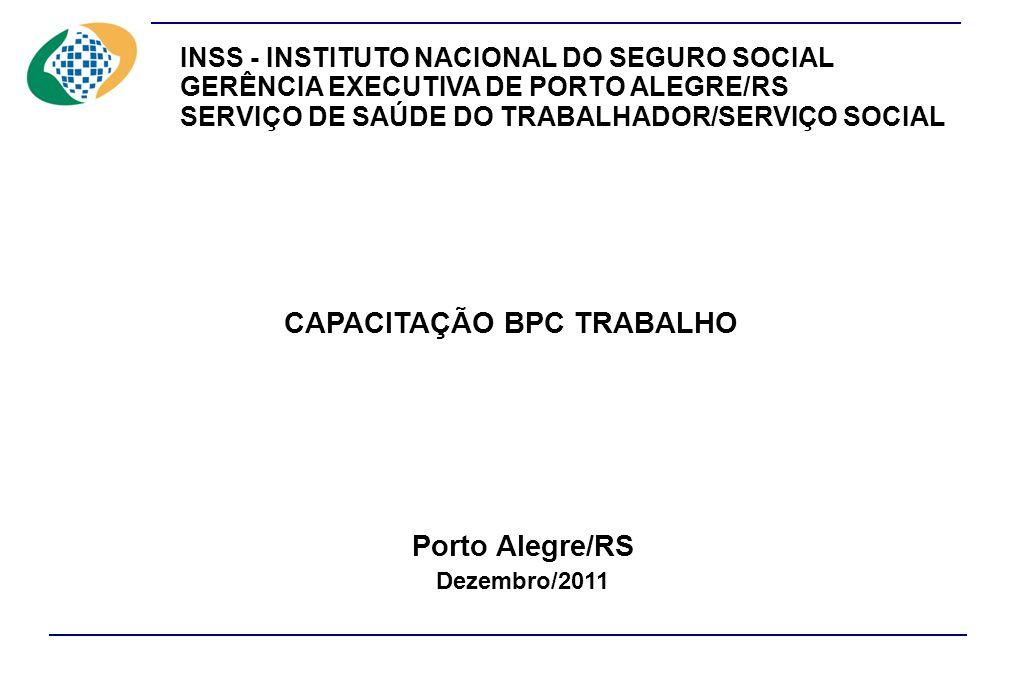 CAPACITAÇÃO BPC TRABALHO