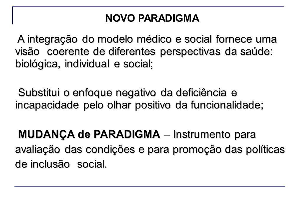 A integração do modelo médico e social fornece uma