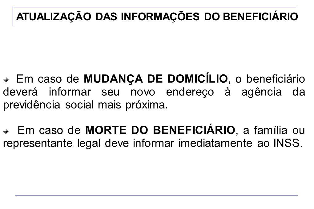 ATUALIZAÇÃO DAS INFORMAÇÕES DO BENEFICIÁRIO