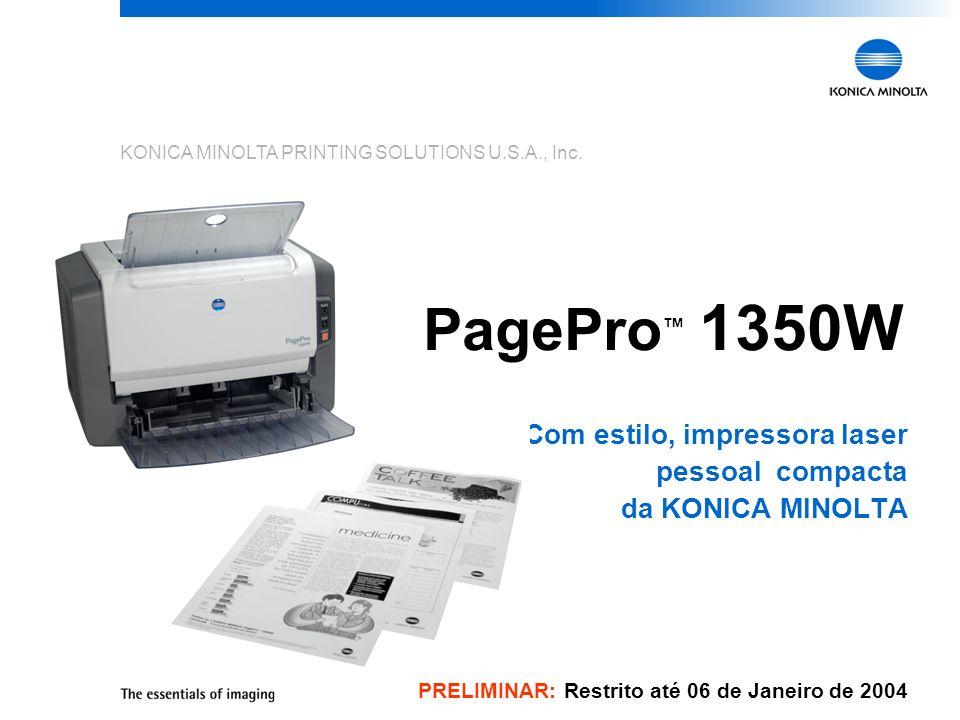 Com estilo, impressora laser pessoal compacta da KONICA MINOLTA