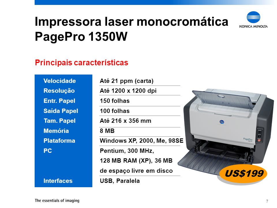 Impressora laser monocromática PagePro 1350W