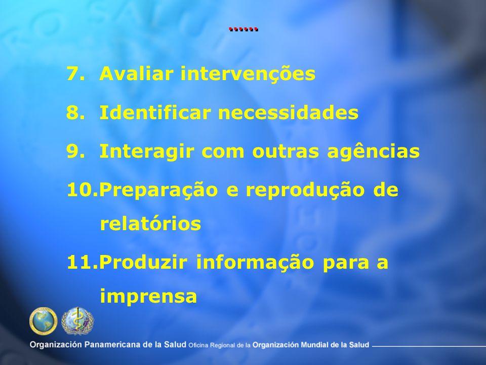 8. Identificar necessidades 9. Interagir com outras agências